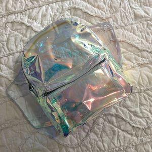NWOT iridescent backpack
